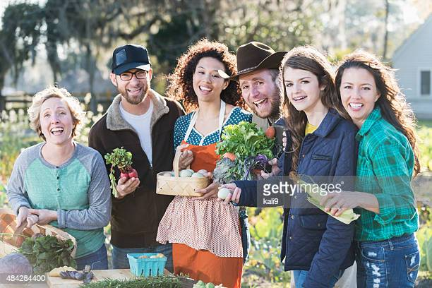 People representing farm-to-fork movement