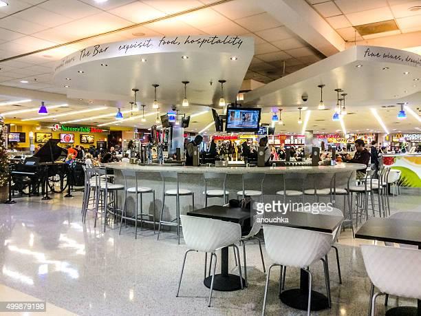 People resting at the Bar, Atlanta Airport, USA