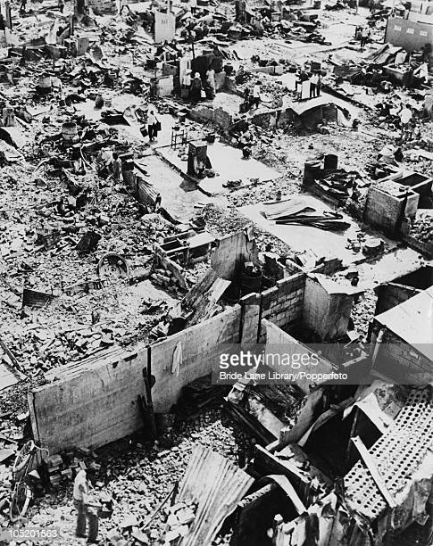 People return to their ruined homes in Hue Vietnam during the Vietnam War 3rd February 1968