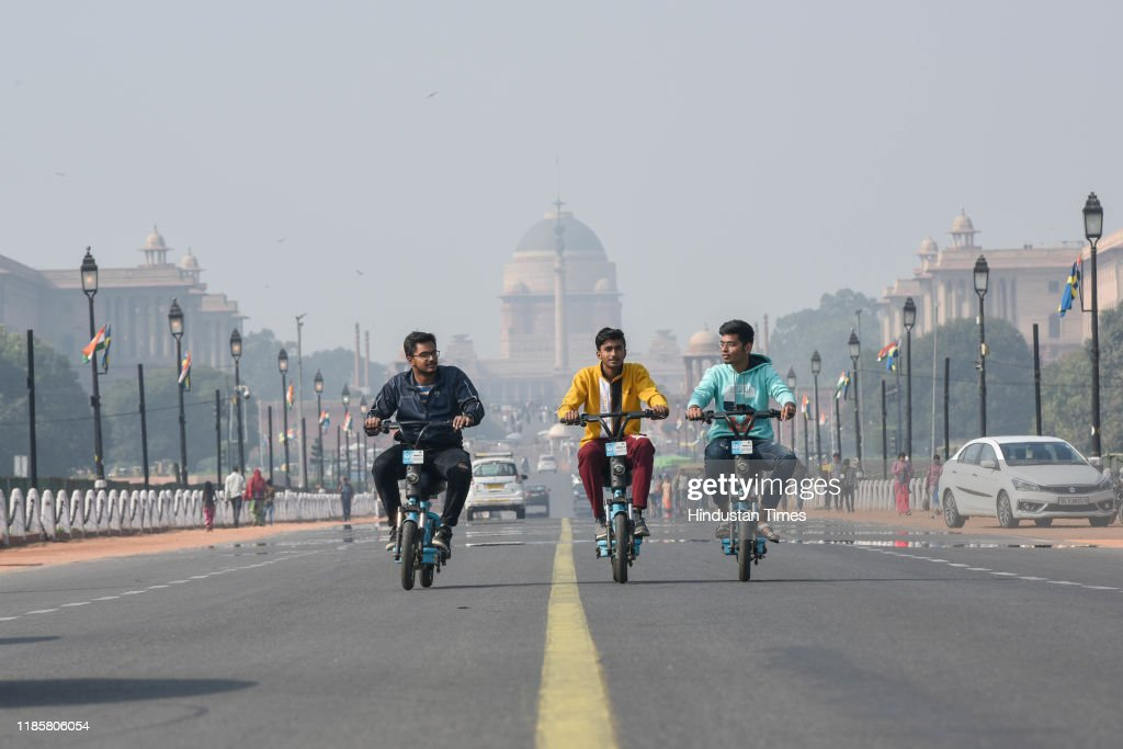Delhi-NCR Record Single Digit Temperature For The First Time In The Season : News Photo