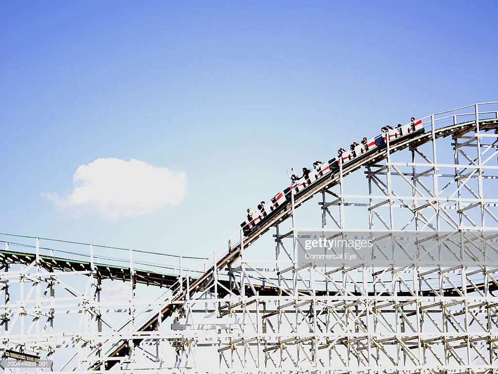 People Riding Rollercoaster Side View Stock Photo | Getty ...