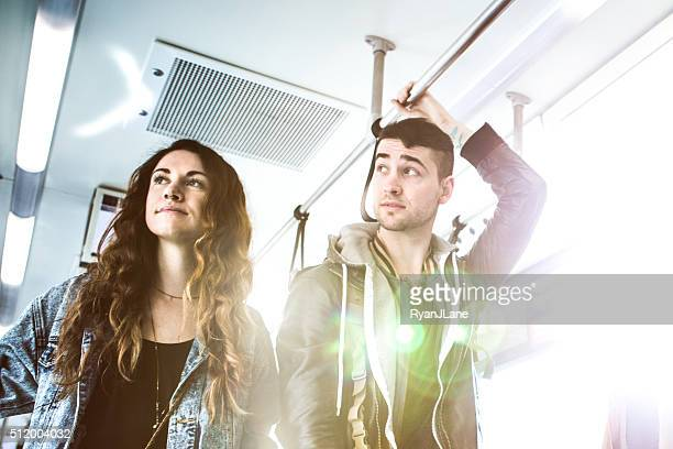 People Riding Seattle Light Rail