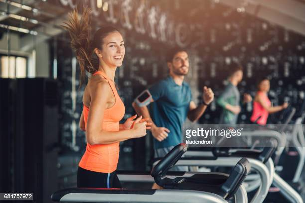 People running at the gym
