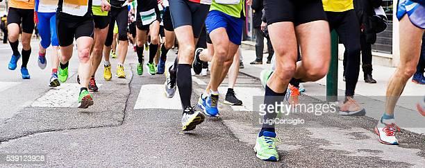 Pessoas a correr na Maratona da Cidade