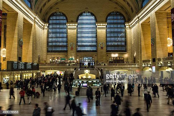 People rush through Grand Central Terminal on their daily commutes on December 2 2013 in New York City Delays are expected for many commuters this...