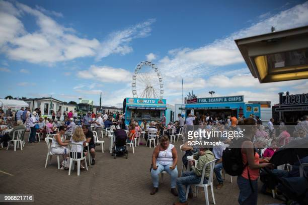 People seen having lunch while taking part of the event during the Great Yorkshire Show 2018 on day one The Great Yorkshire Show is the biggest 3...