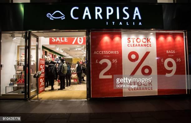 People seen inside the Carpisa store on Oxford Street in London