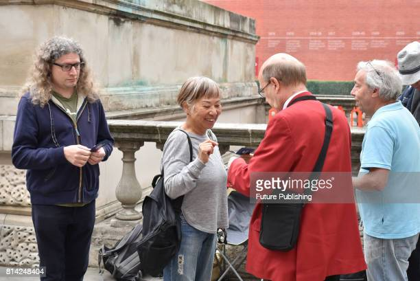 People seen queuing for Proms concert at the Royal Albert Hall, on July 14, 2017 in London, England. PHOTOGRAPH BY Matthew Chattle / Barcroft Images...