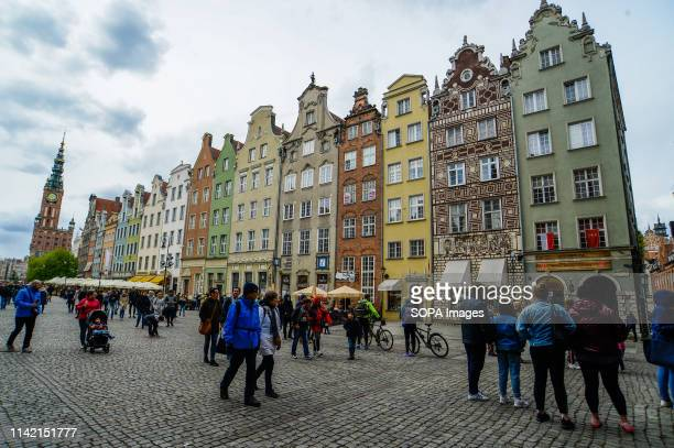 People seen walking by Dlugi Targ the main street at the old town Gdansk is a port city located of the Baltic coast of Poland In 2018 Gdansk was...