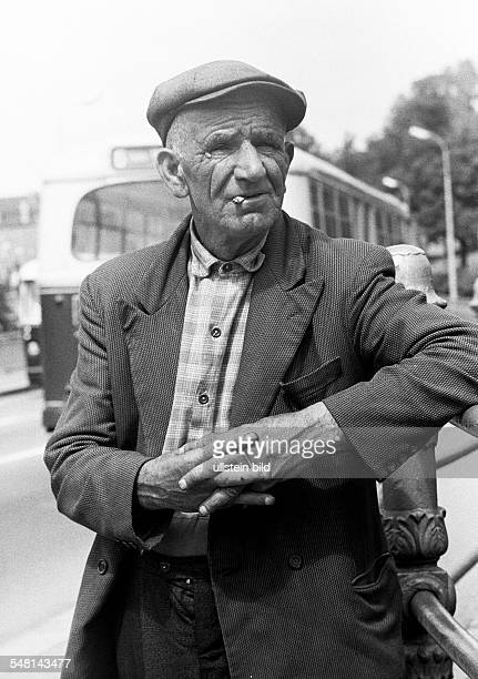 People, senior, older man, portrait, jacket, cap, aged 70 to 80 years, Luxembourg -