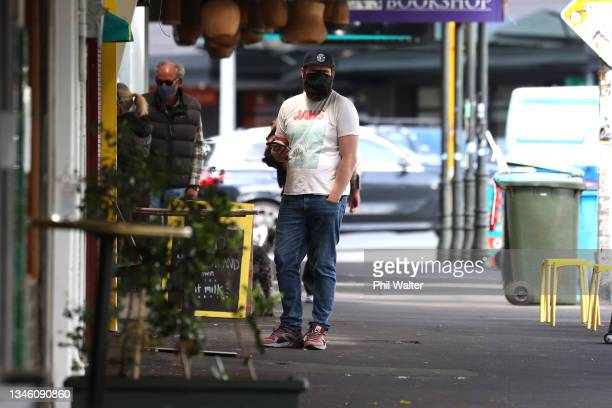 People shop along Ponsonby Road on October 12, 2021 in Auckland, New Zealand. 43 new COVID-19 cases have been recorded in New Zealand in the last 24...