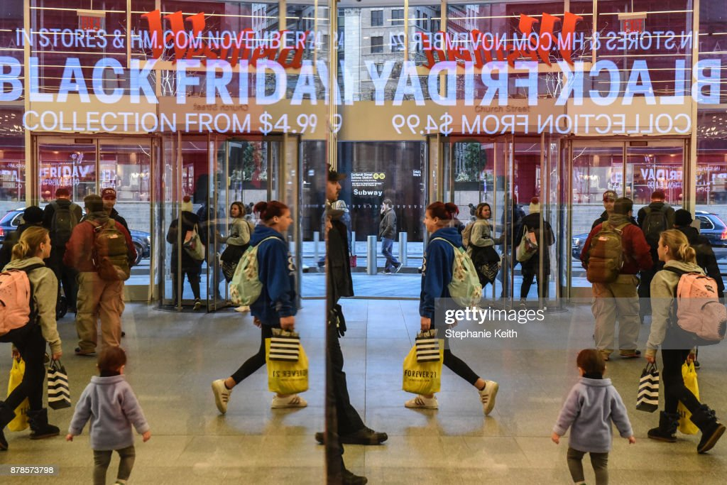 Shoppers Get Early Start To Holiday Shopping On Annual Black Friday : News Photo