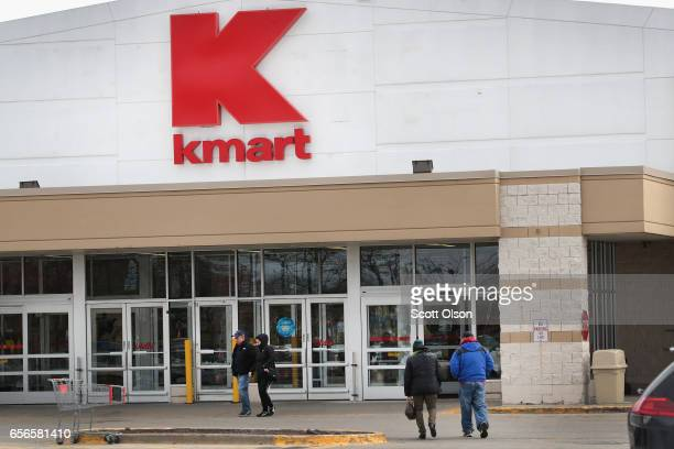 People shop at a Kmart store on March 22 2017 in Chicago Illinois Sears Holdings the parent of Kmart and Sears Roebuck Co said there is 'substantial...