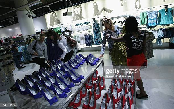 People shop during the public launch of the 'Lily Loves' collection at the New Look store on Oxford Street on May 09 2007 in London England