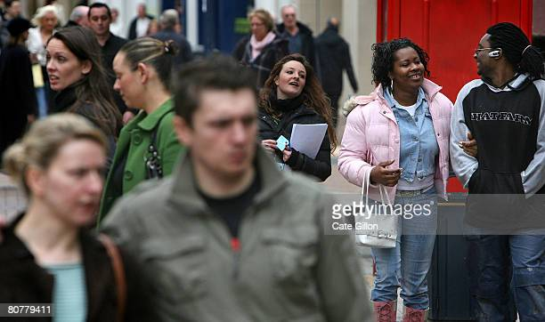 People shop in Kingston Upon Thames town centre on April 19th 2008 in London England Tomorrow is the anniversary of rightwing politician Enoch...