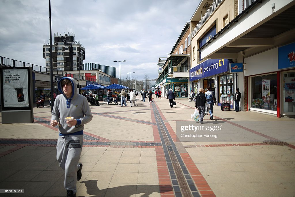 People shop in Northamptonshire, the youth unemployment capital of Britain, on April 24, 2013 in Corby, England. A recent study pin pointed Corby as Britain's youth unemployment capital. The study by education specialists Ambitious Minds found that youth unemployment was 11% rising from 4% in 2007. Corby in Northamptonshire was built around its steel industry in the 1930's. The steel works closed in 1980 with the loss of 10,000 jobs.