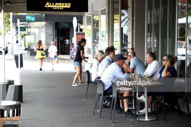 People shop on Ponsonby Road in Auckland on January 28, 2021 in Auckland, New Zealand. Auckland residents are being urged to remain vigilant for...