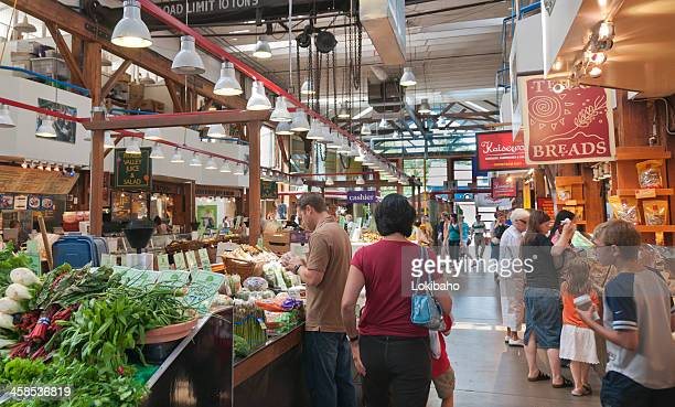 People shopping at Granville Market