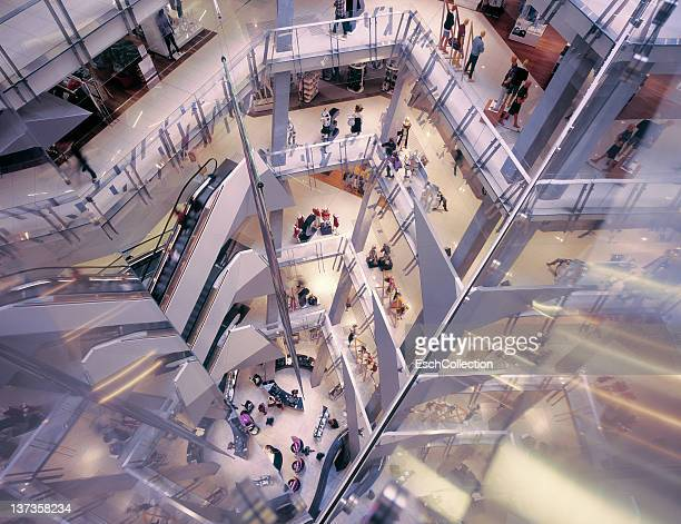 People shopping at renovated Myer department store