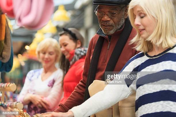 People shopping for jewelry, Boston, Suffolk County, Massachusetts, USA