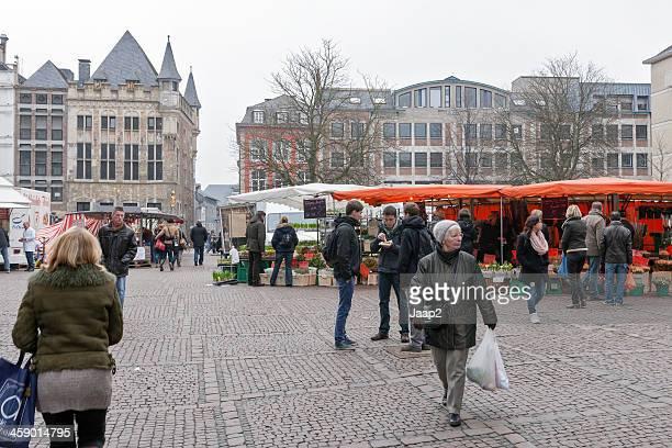 People shopping in Aachen, Germany