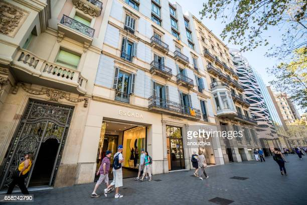 People shopping in Barcelona, Spain