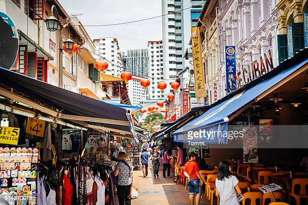 Les boutiques de Chinatown, de Singapour