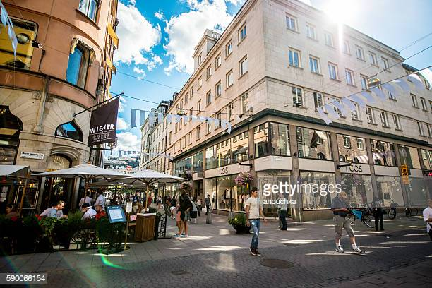 People shopping in Stockholm, Sweden