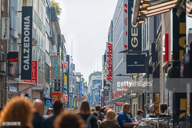 people shopping in the city of Cologne Germany