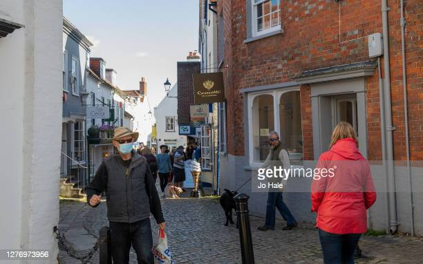People shopping in the village of Lymington in the New Forest on September 27, 2020 in Hampshire, England.