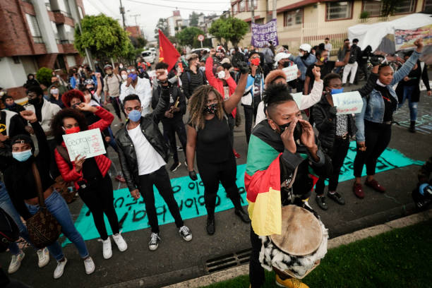 COL: Protest In Bogota Against Police Brutality In Death Of George Floyd