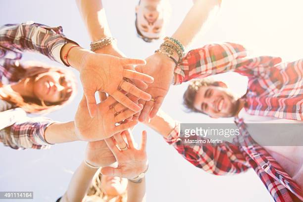 People showing unity