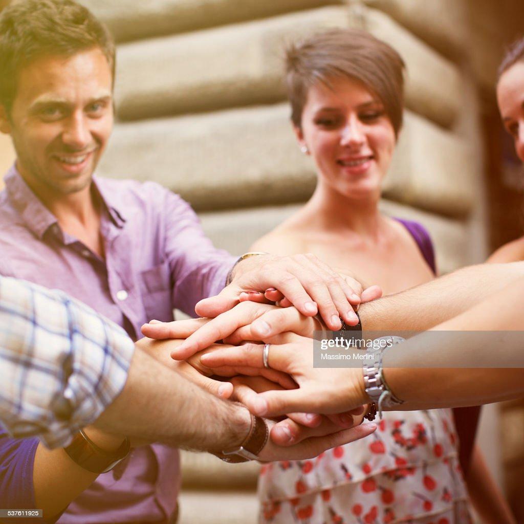 People showing unity : Stock Photo