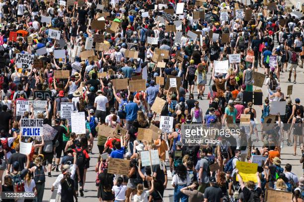 People shut down I225 in both directions as they demand justice for Elijah McClain on June 27 2020 in Aurora Colorado On August 24 2019 McClain was...