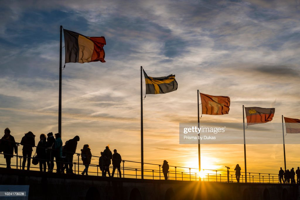 people silhouettes flages pictures getty images