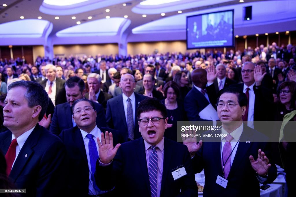 US-POLITICS-TRUMP-religion : News Photo