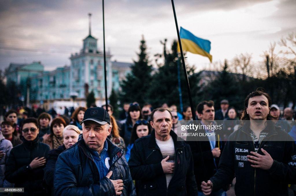 UKRAINE-RUSSIA-POLITICS-CRISIS : News Photo