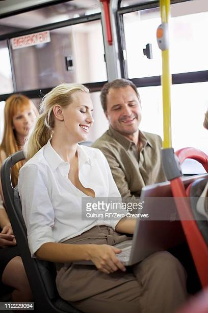 People sitting in a bus