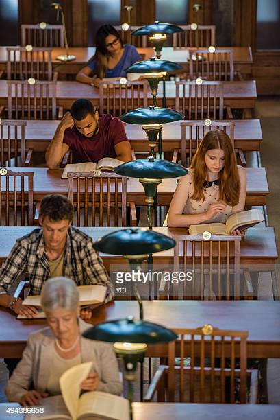 People sitting in public library