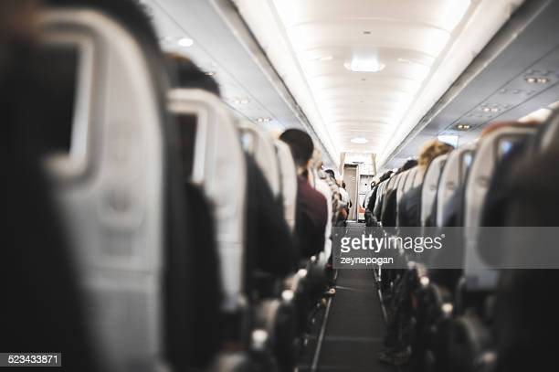 People sitting in the airplane