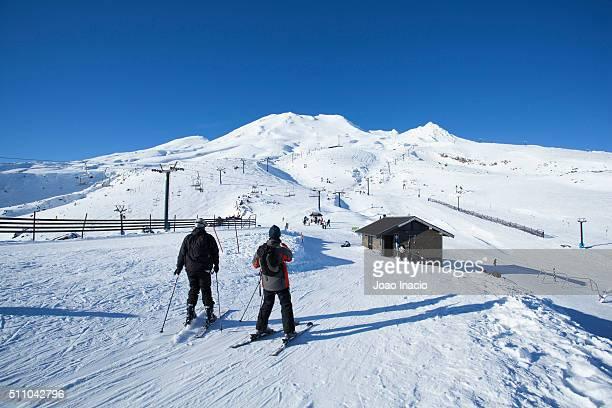 People skiing at Mount Ruapehu ski area