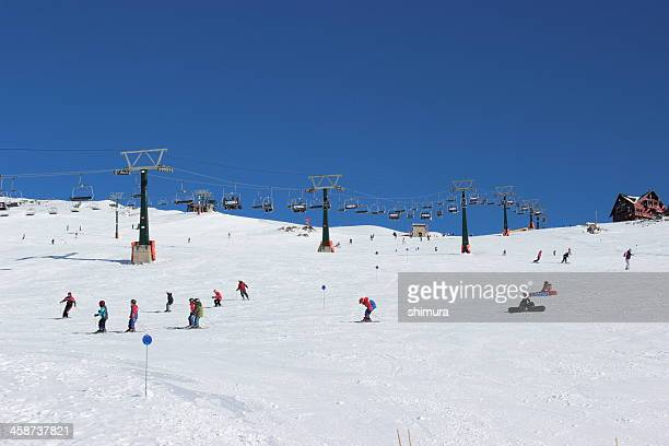 People skiing at the Ski Resort on CERRO CATEDRAL