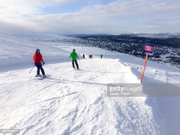 People skiing on snow