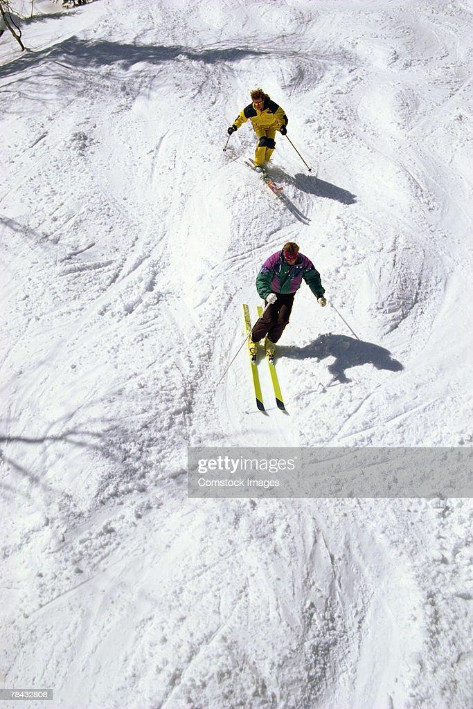 People skiing : Stockfoto