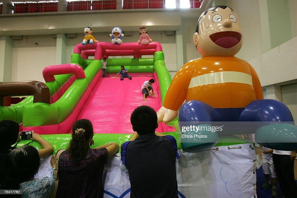 Doraemon Theme Park Built In Shanghai : News Photo