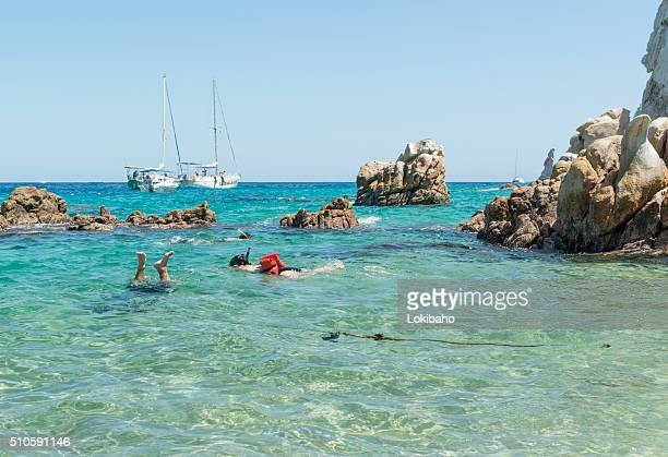 People snorkeling near Cabo San Lucas