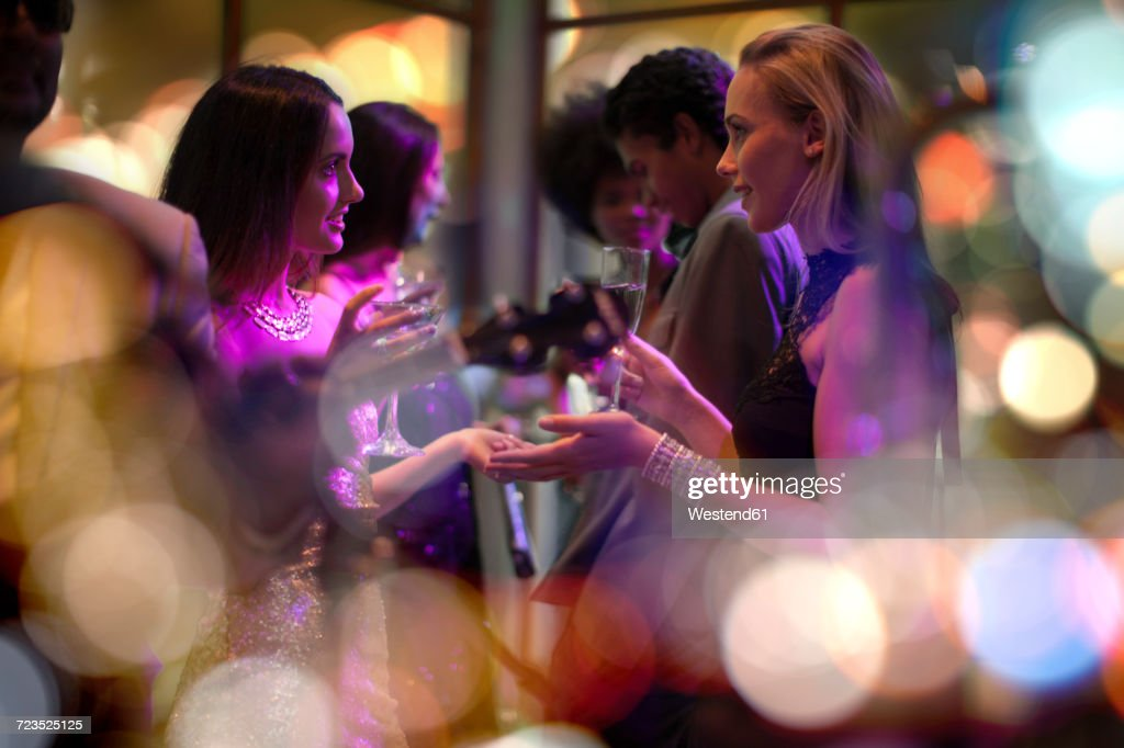 People socializing on a party : Foto de stock