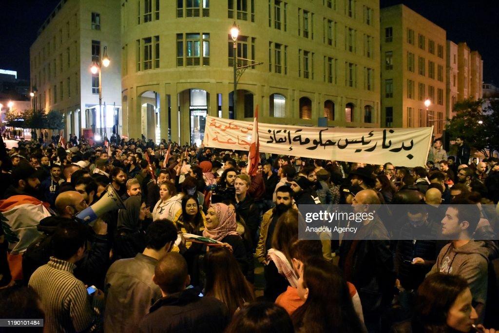Anti-govt protests continue in Lebanon : News Photo