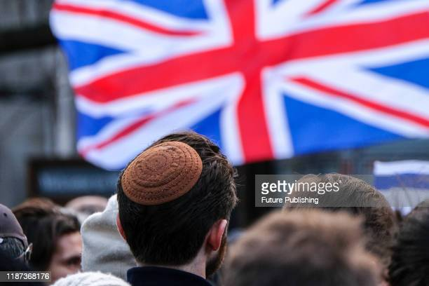 KINGDOM DECEMBER 08 2019 People stage a Together Against Antisemitism rally in Parliament Square PHOTOGRAPH BY Matthew Chattle / Barcroft Media