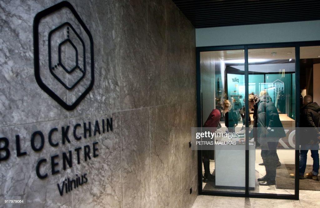 LITHUANIA-FINANCE-COMPUTERS-BLOCKCHAIN : News Photo